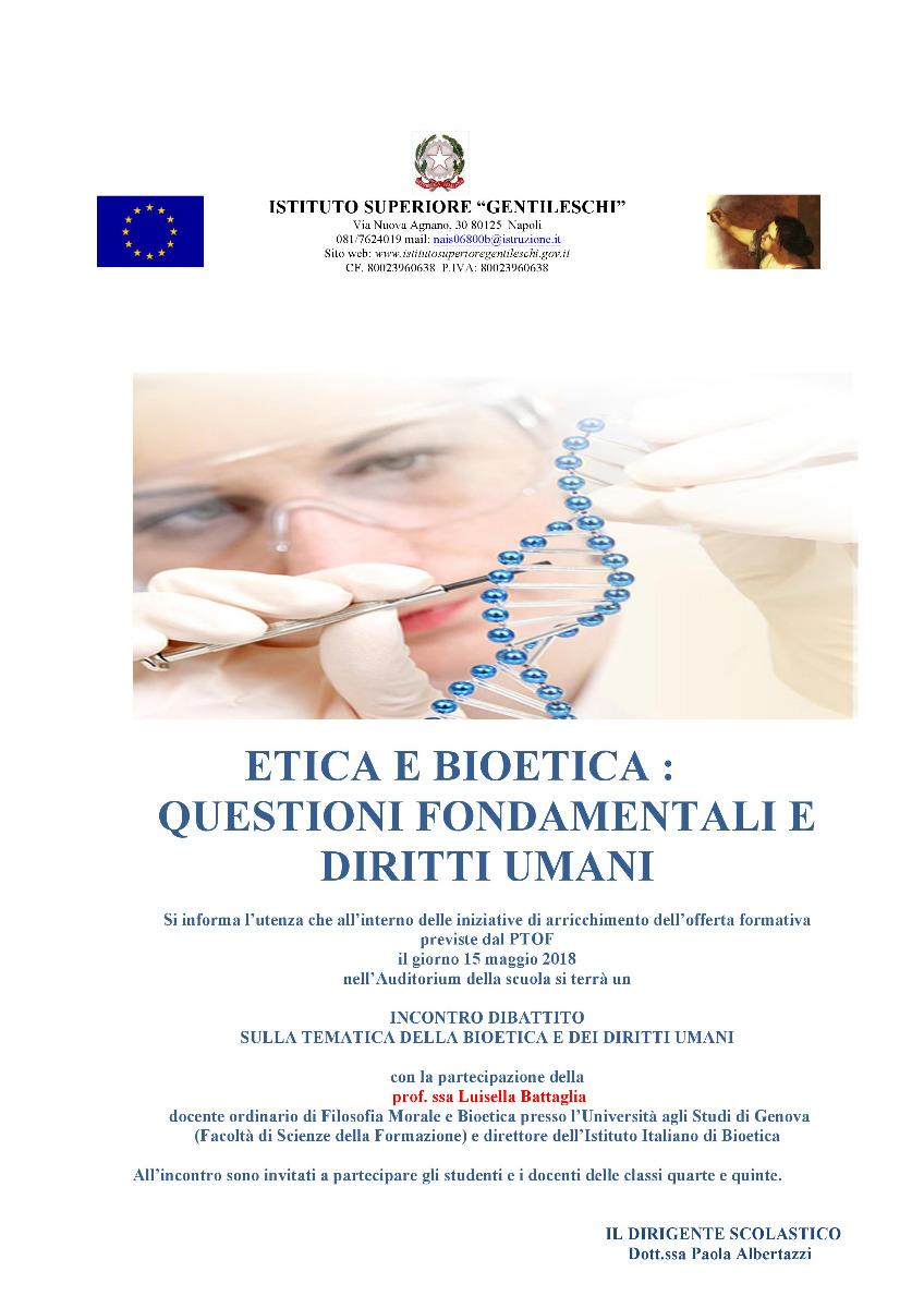 Incontro Dibattito: Bioetica e diritti umani