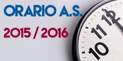 ORARIO SCOLASTICO 2014/2015